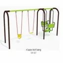 Mild Steel Rubber Belt Four Seater Arch Swing, Seating Capacity: 4