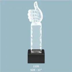 Acrylic Thumbs Up Trophy