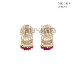Fusion Arts Kundan Stud Earrings