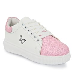 White,Pink Ladies Fashion PU Shoes, Size: 7