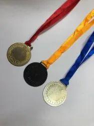 Gold Silver Brass Medals