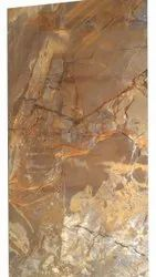 Ceramic Brown High Gloss PGVT Tile, Thickness: 16 mm