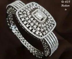 Artificial Diamonds Party Wear American Diamond Kada, 1 Piece