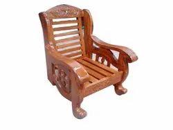 AF Brown Wooden Antique Chair, Finish: Polished