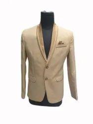 Plain Mens Party Wear Coat, Size: 36-44