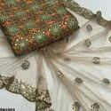 Both Side Embroidered Net Fabric