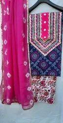 Aaditri Gota Detailing Suit With Chiffon Dupatta