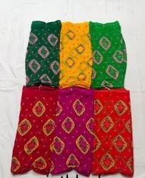 Printed Multicolor Party Wear Chiffon Sarees, 6 m (with Blouse Piece)