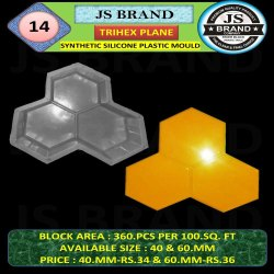 8 x 8 inch Stone Synthetic Silicone Plastic Mold