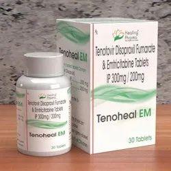 Tenofovir Disoproxil Fumarate & Emtricitabine Tablets Ip 300mg/200mg