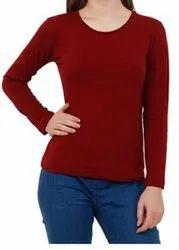 Ladies Cotton Full Sleeves T Shirt