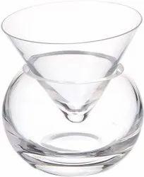 White Martini Chiller Glass, For Restaurant, Capacity: 150 Ml