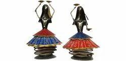 Polished Iron Dancing Doll Decorative Showpiece