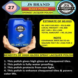 60 Kg Black Sponge Lacquer Polish