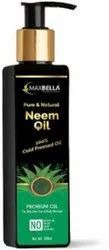 MaxBella Neem Oil 100% Pure and Natural Unrefined Cold-Pressed, Packaging Size: 200ML