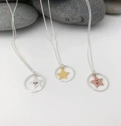 Personalised Sterling Silver Star Necklace