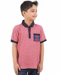 A.g Exports Casual Wear Kids Cotton Collar Neck T Shirt, Size: M
