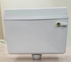 White PVC Toilet Flush Tank
