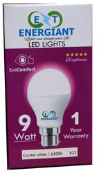 Energiant Round 9W Ceramic LED Bulb