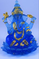 Marble Multicolor Ganesh Idol for Home Decor