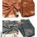 Organza Digital Fabric With Zari Border