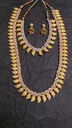Alloy,Beads Golden Alloy Artificial Necklace Set