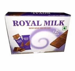 Black And White Rectangular Royal Milk Dark Chocolate Bar, Number Of Pieces: 30