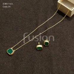 Fusion Arts Trendy Stone Necklace Set