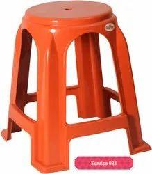 Orange Plastic Stool