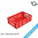 Rectangular Mesh Supreme Plastic Crate, Size: 500 X 325 X 150 Mm, Capacity: 19 Liters
