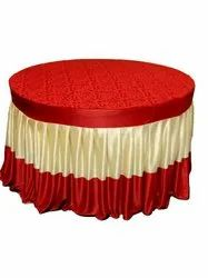 VELVET TOP AND LYCRA SIDE FALL Round Table Frill