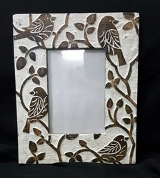 Brown decorative wooden photo frame, For Gift, Size: 7x5