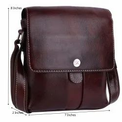 Standerde Mens Leather Side Bag, For Casual, Size: 7