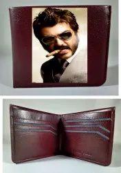 Brown Bi Fold Personalized Men's Leather Wallet