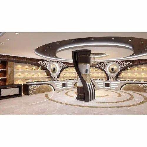 Modern Jewellery Shop Interior Designing Service