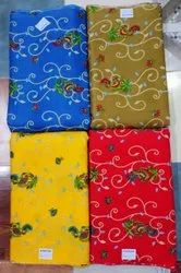 Rayon Printed Fabric, Floral, Multicolour