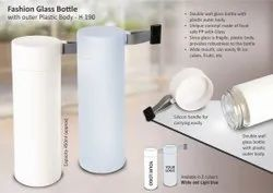 H190 Fashion Glass Bottle With Outer Plastic Body