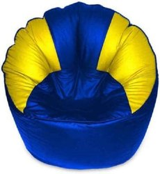 Blue and Yellow Muddha Bean Bag