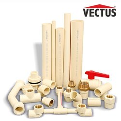 15mm ~ 50mm。螺纹Vectus ASTM CPVC配件,用于热水和冷水管道系统,用于管道