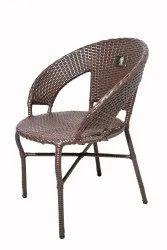 Brookwood Brick Brown Wicker Chair, For Outdoor