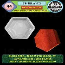 New Hexagon Synthetic Silicone Plastic Mould