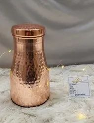 Hammered Round Lily Bed Room Jar for Home & Hotels, Size: 10x20 Cm