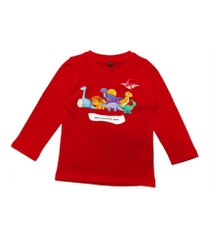 A.g Exports Lycra Cotton Kids Red Full Sleeve T Shirt, Size: M