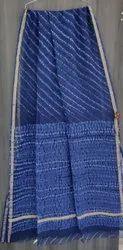 Hand Block Printed Kota Doria Saree, 5.5 m (separate blouse piece)