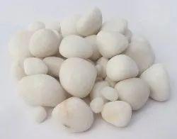 Aquarium White Polished Pebble Stone