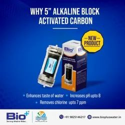 Polycarbonate PC Bio+ Block Activated Carbon BAC Domestic Transparent Water Filter, Filtration Capacity: 2500 Litres