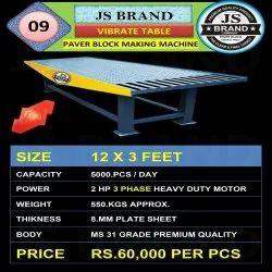 550 kgs Vibrate Table Paver Block Making Machine
