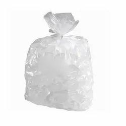 Transparent Plastic Ice Cube Poly Bag, Capacity: 25 Kg