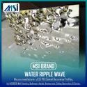 Stainless Steel Water Ripple Waved, Color  Black Gold, Rose Gold, Black, Silver, Champagne