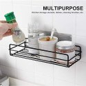 Black Metal Kitchen Rack Shelf & Bathroom Shampoo Organizer, For Home, Size: Medium